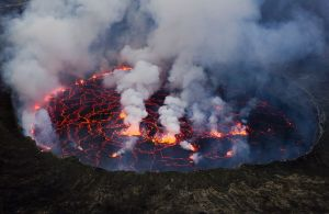 The lava lake at Mt Nyiragongo in the Democratic Republic of Congo. Photo by Cai Tjeenk Willink.