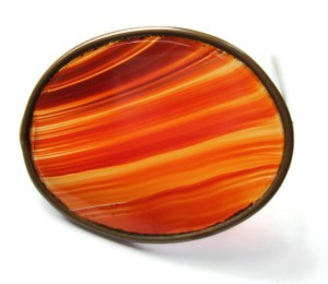 Victorian banded agate brooch.