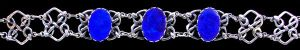 Mary Thew. Silver and opal doublet bracelet. Sold by Tadema Gallery.