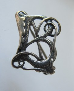 Suzanne's Ortak silver  'B', for sale in her Etsy shop.