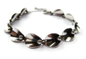 Modernist sterling silver bracelet by Neils Erik From. For sale in my Etsy shop: click photo for details.