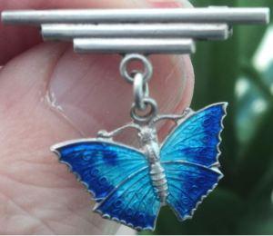 Art Deco butterfly brooch. For sale on eBay.