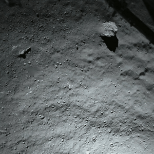 Photo taken by Philae from about 40m above the surface of the comet, just prior to Phiale's landing.