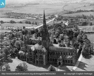 Salisbury Cathedral, 1933.