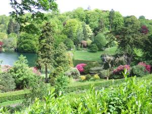The view from the Temple of Apollo. The colours are so zingy at this time of year, and the rhododendrons and azaleas were looking amazing.
