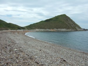 Bulbarrow Tout, and a party of kayakers who pulled up on the beach.