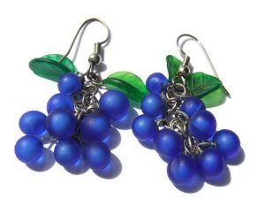 Grape earrings, for sale in my Etsy shop. Click on photo for details.