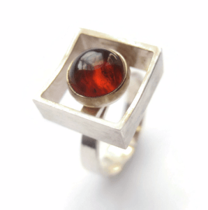 N E From Baltic amber modernist ring. For sale in my Etsy shop: click on photo for details.