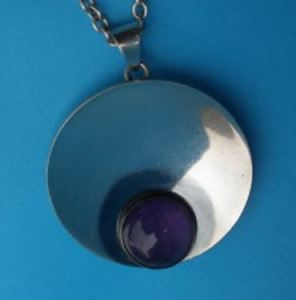 N E From amethyst pendant. For sale at JohnKelly1880.co.uk: click on photo for details. Diameter 42 mm. Design #