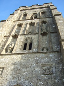 South-west face of the tower.
