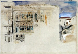 The Casa d'Oro, Venice. 1845, pencil and watercolour, with bodycolour, 33 x 47.6 cm.
