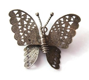 Vintage silver butterfly brooch.