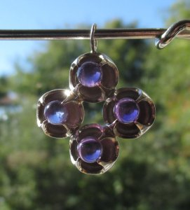 Kultaseppa Salovaara amethyst and sterling silver pendant.