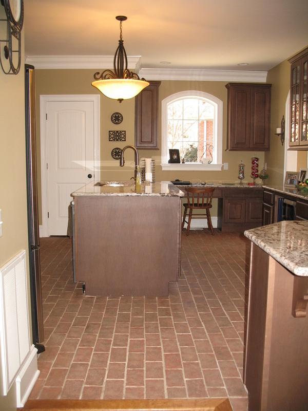 brick floor kitchen grey cabinets for sale kitchens inglenook tiles pavers thin tile boltinhouse wright s ferry 4x8
