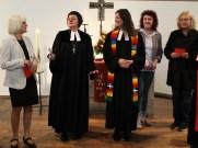 Pfarrerin Anja Raidel ist eingeführt.