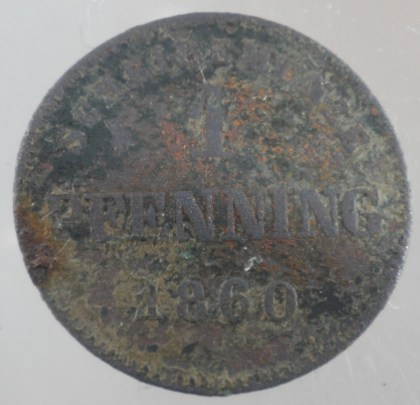1860 - 1 Pfenning Königreich Bayern (Maximilian II) 1