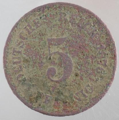1876 - 5 Pfennig 1