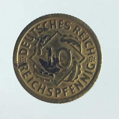 1936 - 10 Reichspfennig F 1