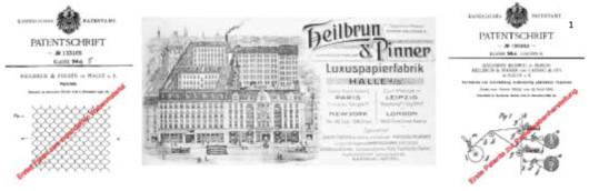 1 Anfänge der Wabenentwicklung Heilbrun & Pinner (Patente 1901–1906, Briefkopf 1909)