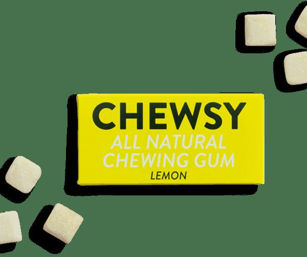 Lemon-Chewsy Natural Chewing Gum