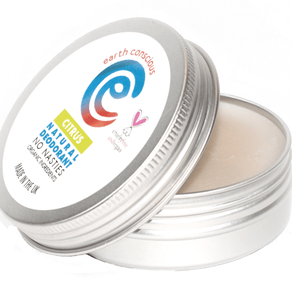 Earth Conscious Citrus Natural Deodorant