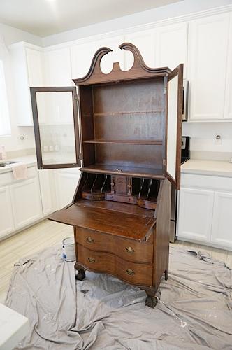 Marvelous That Time I Painted Then Stripped My Vintage Secretary Desk Download Free Architecture Designs Xerocsunscenecom