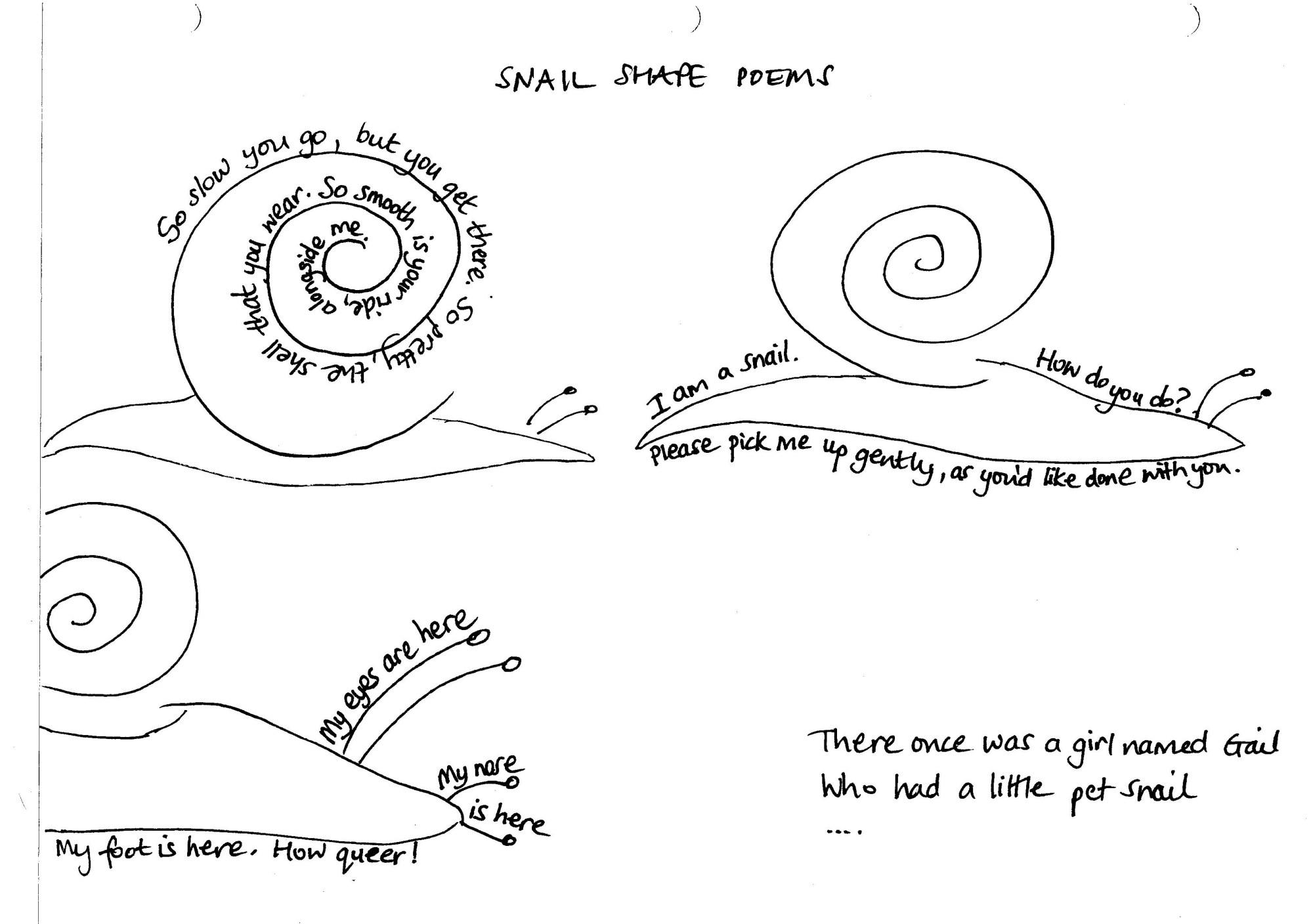 hight resolution of snail poem jpg
