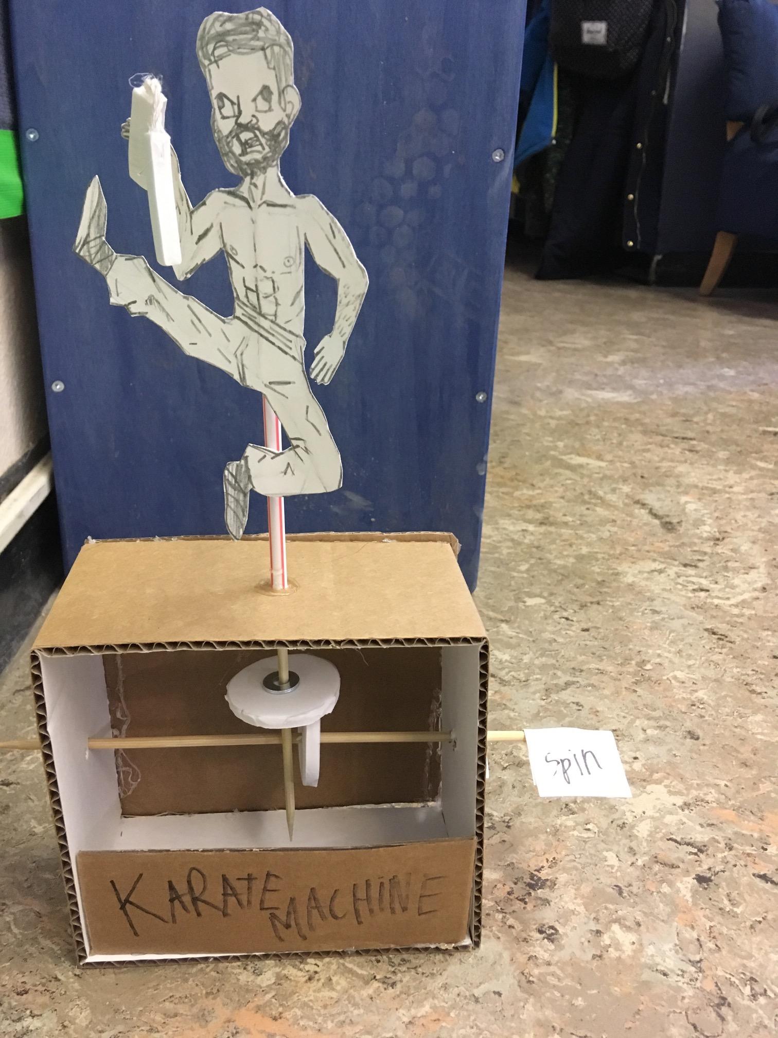 Automaton  cardboard and foam machine  ingridscienceca