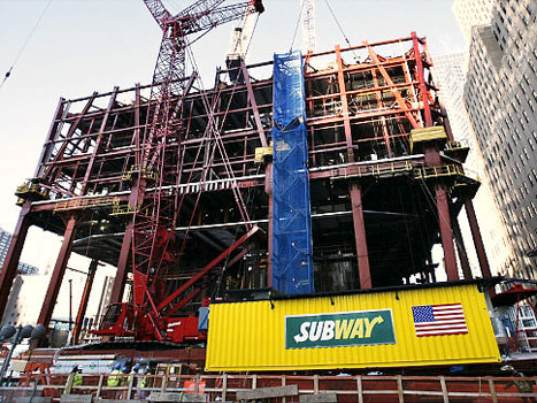 shipping container, shipping container architecture, shipping container restaurant, subway, freedom tower, new york city, world trade center