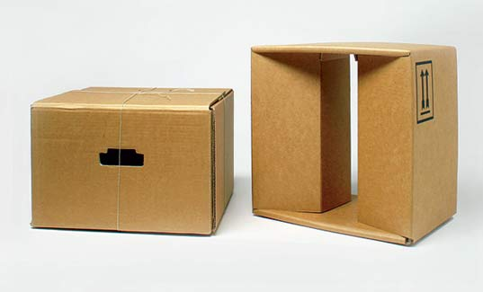 sustainable design, green design, move, cardboard box furniture, interiors, green furniture design, janine perkuhn, recycled cardboard
