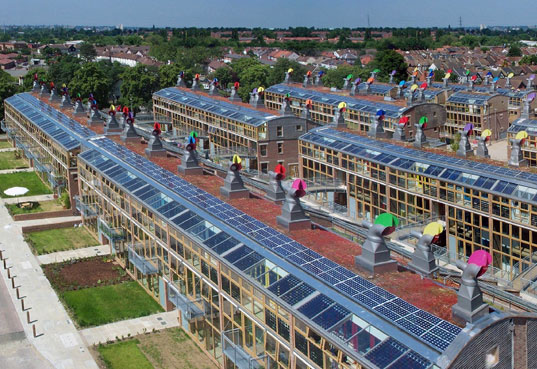 BedZED, zero energy homes, zero energy design, zero energy home, sustainable development, sustainable multi-home complex, green housing, green homes, carbon neutral, carbon neutral community