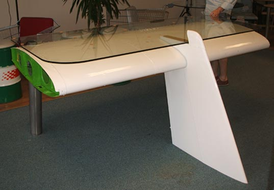 DEBORAH Recycled Airplane Wing Desk by Reestore