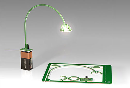 Mini Designer DIY Battery Lights, DEK Emulator Lights, Designer Battery Lights, Mark McKenna, DEK lights, 9-volt battery lights, mini designer lights, Emulator lights, ICFF 2007