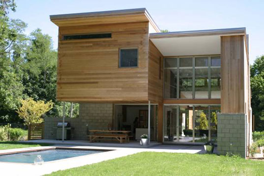 Berg Design, energy star, John Berg, kynar, low-e glass, mid-century modern, Old Stone Highway House, saline pool, sips, structural insulated panels, sustainable architecture, Highway4