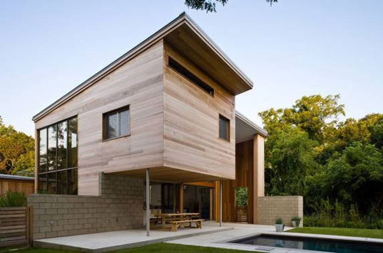 Berg Design, energy star, John Berg, kynar, low-e glass, mid-century modern, Old Stone Highway House, saline pool, sips, structural insulated panels, sustainable architecture, Highway1