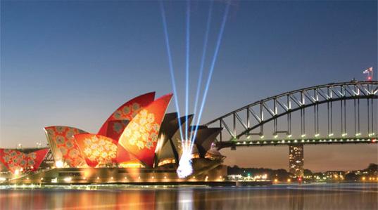 Sidney luminoso festival, Australia, Brian Eno, Roxy, la iluminación de la Ópera, vivo, festival de luces, pintura de la Ópera, la Ópera de Sydney, de luz, instalación de arte