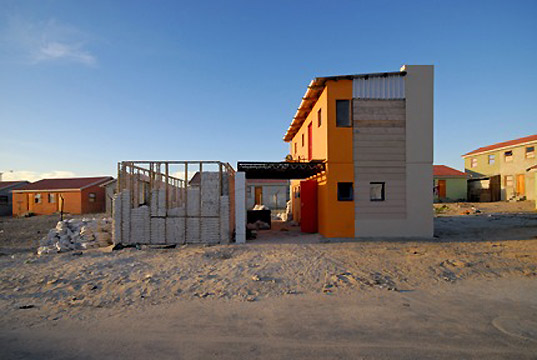 mma architects, south africa homes, south africa architecture, curry stone foundation prize, sandbag houses, ecobeam technologies, affordable housing, sustainable housing