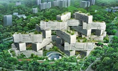 Image credit to Inhabitat for The Interlace, Capitaland