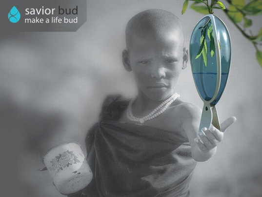sustainable design, green design, social design, design for health, savior bud, drinking water, africa, potable water