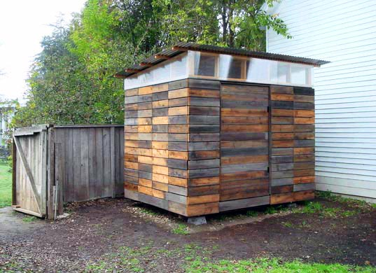 Beautiful Garden Studio Built from Reclaimed Fence