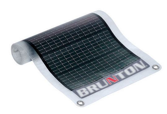 Solar powered gadget charger, solar laptop charger, solar charger, Solar Roll, SolarRoll, Brunton, Brunton Solar Roll, Brunton Solar Roll, Solar computer charger, solar cell phone charger, solar battery charger, solar camera battery charger, eco-friendly products, green gadgets, greener gadgets, solar electricty, solar gadgets