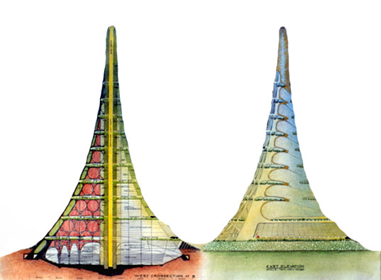Gigantic volcano tower, gigantic eco tower, worlds biggest tower, Two mile high tower, 2 mile high building, mile high structure, mile high eco city, mountain skyscraper, Eugene Tsui, Ultima Tower, megacities, megatowers, green building, sustainable design, sustainable architecture, green architeccture, urban migration, green skyscrapers, urban housing, sustainable development, super towers