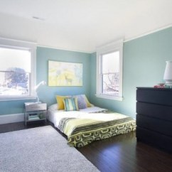 Green Cushions Living Room Office Furniture 10 Beautiful Blue Bedrooms | Inhabit Blog
