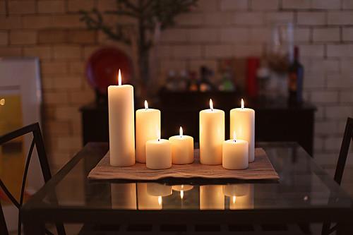 Hearthstone Diagonal Cut Glass Candle Holders Modern Candleholders