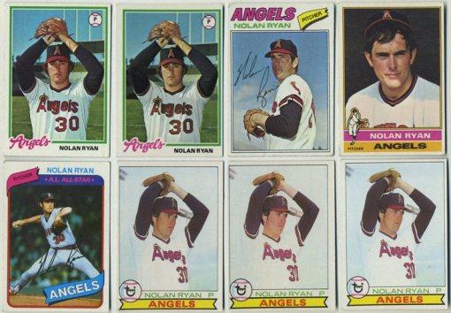 Lot of Nolan Ryan cards 1976-1980