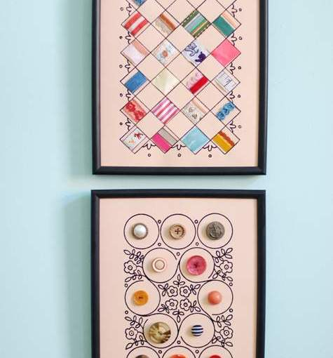 DIY Display For Vintage Buttons, Ribbons & Other Sewing Notions Collections