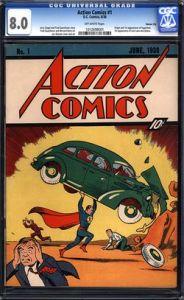 Action Comics 1 debut of Superman