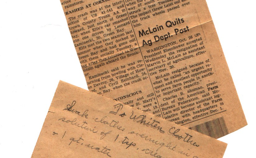 Dating Old Newspaper Clippings (And Some Telephone Number History)