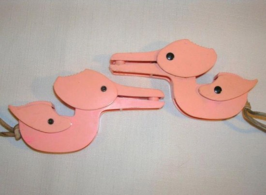 Vintage Figural Plastic Kids Mitten Keepers