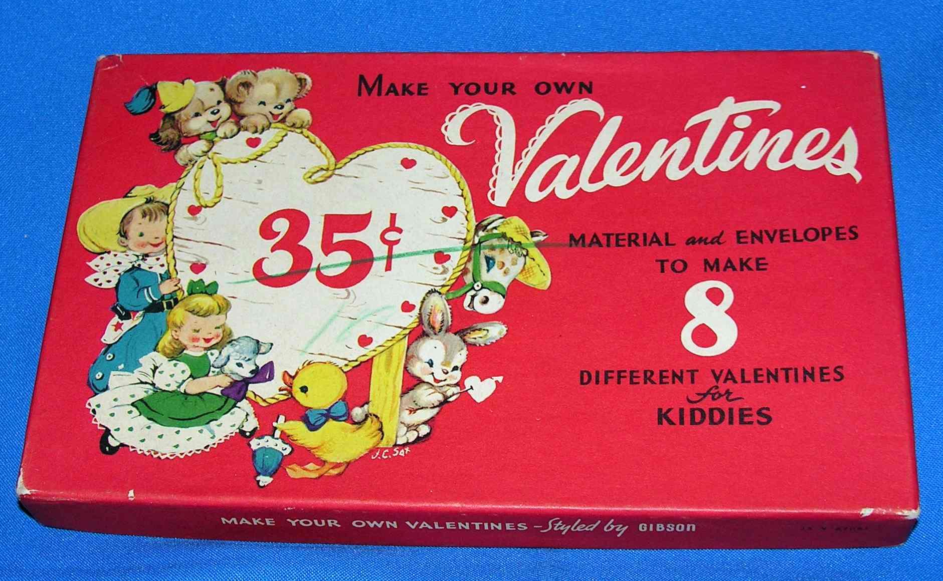 vintage diy valentines kit  inherited values
